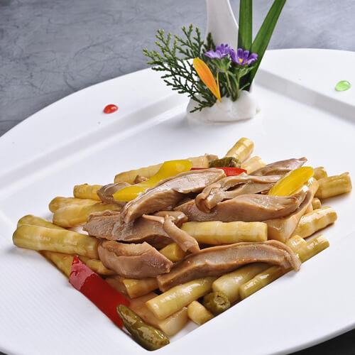 美味的笋丝炒肉