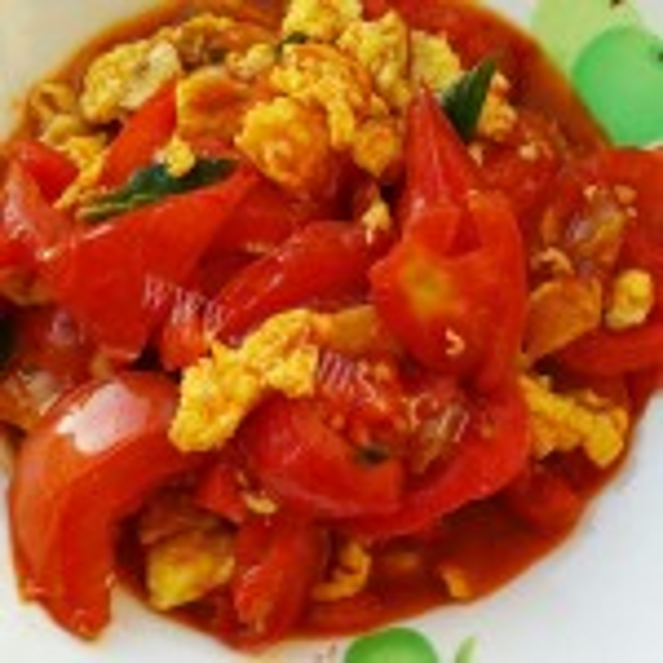 家常西红柿炒虾仁