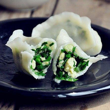 美味的韭菜肉饺子