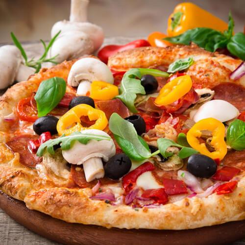 香喷喷的海鲜比萨