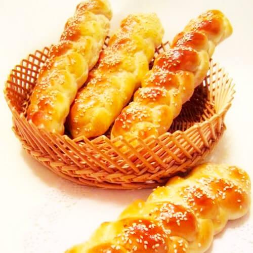 不腻的香葱芝士辫子面包