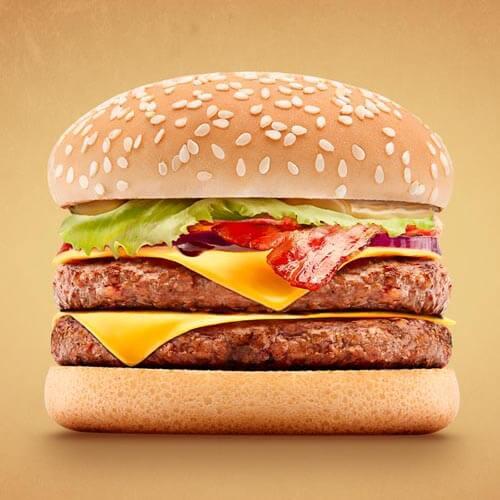 美味燻起司汉堡