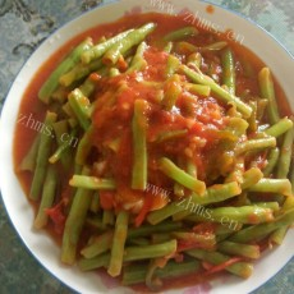 简单的西红柿炒豇豆的做法