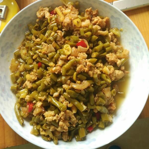 好吃的肉末酸豇豆