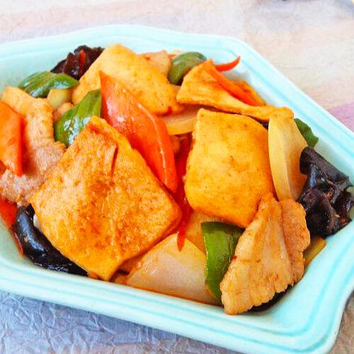 好吃的干锅千页豆腐