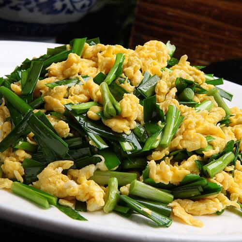 诱人的鸡蛋炒韭菜