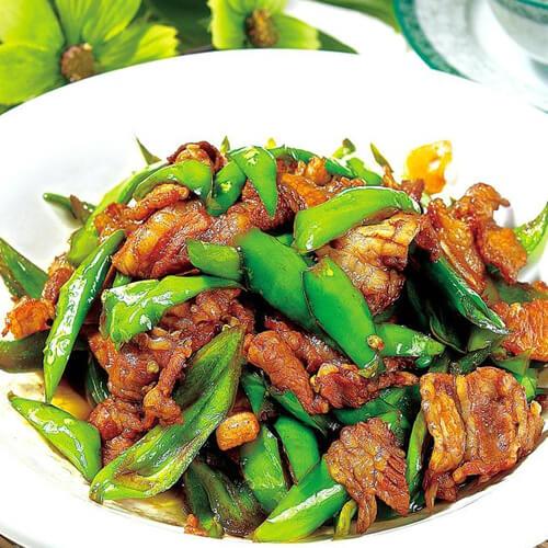 尖椒炒猪肉的做法