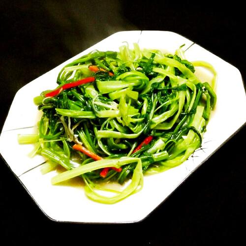 虾酱炒通菜