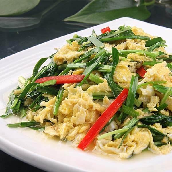 美味韭菜香菇炒鸡蛋