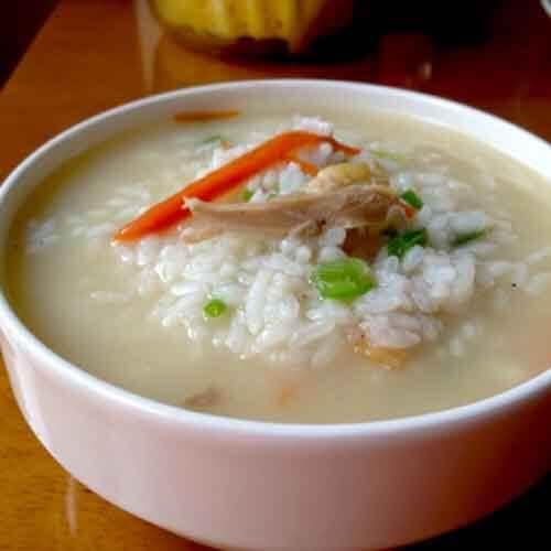 美味的香菇鸡丝粥的做法