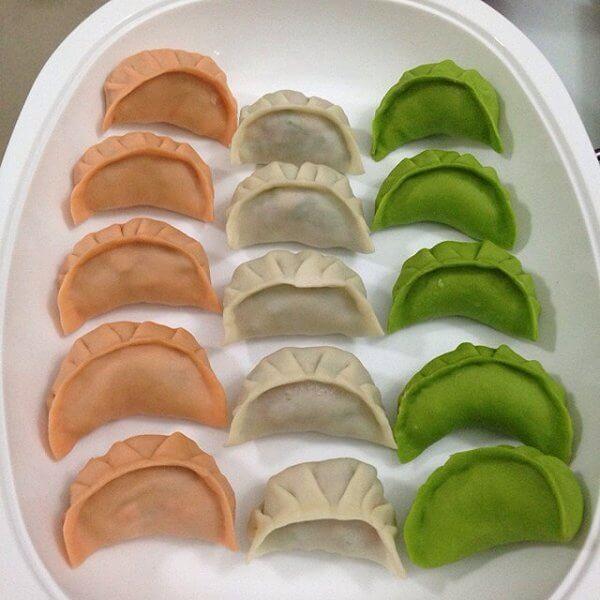 美味的韭菜豆腐鸡蛋馅饺子