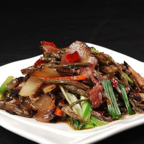 干豇豆炒腊肉