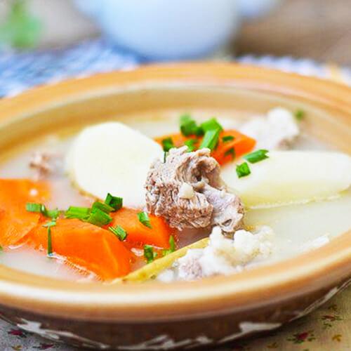 美味山药羊肉汤