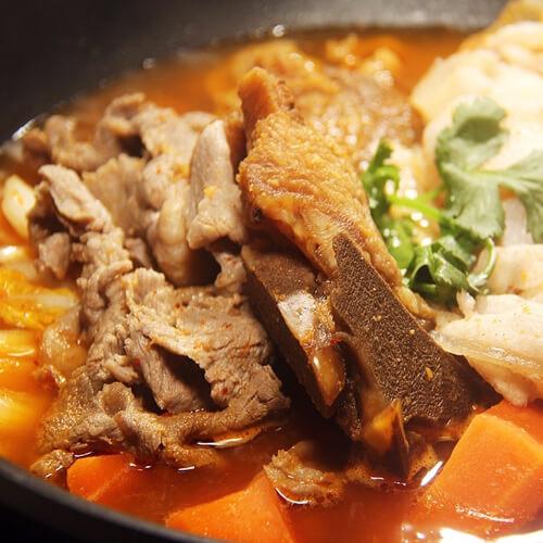 韩式石锅泡菜汤