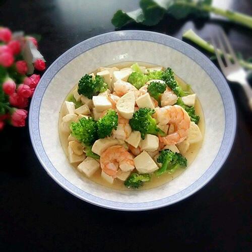蒜苔炒豆腐
