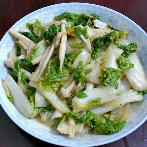 蒜拌黄心菜