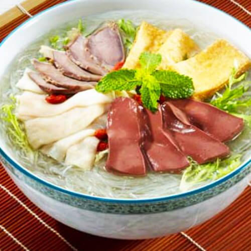 简单的鸭血粉丝汤的做法