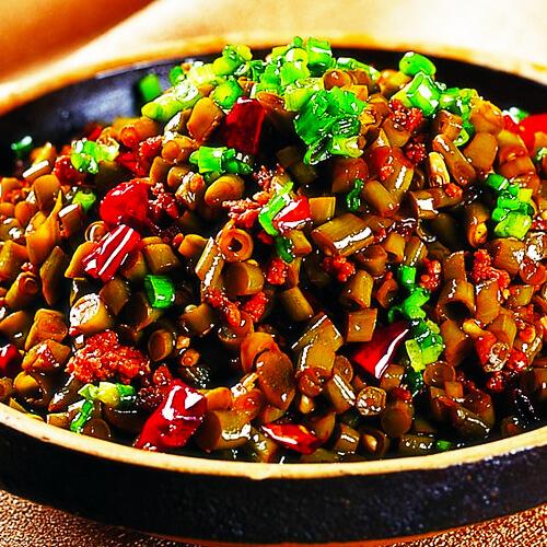 好吃的酸豇豆炒肉末
