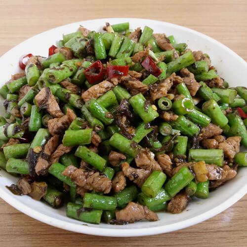 肉沫豇豆的做法
