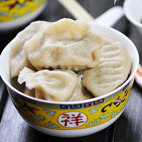 猪肉荠菜饺子的做法