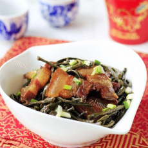 美味干豇豆炒腊肉