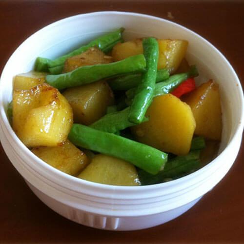家常豇豆炒土豆