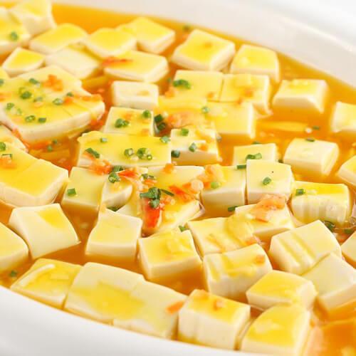 鲜美的蟹肉豆腐