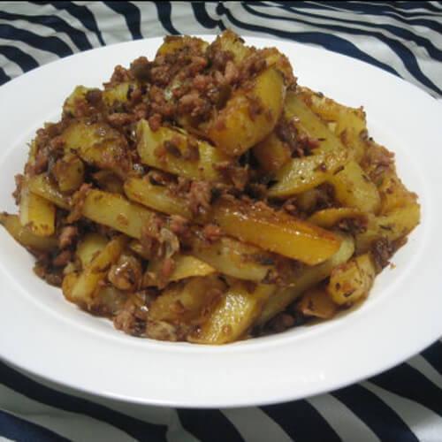 营养干煸土豆块的做法