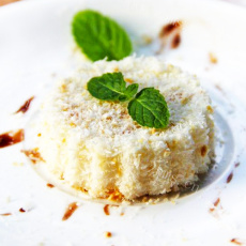 浓香的椰香奶冻糕