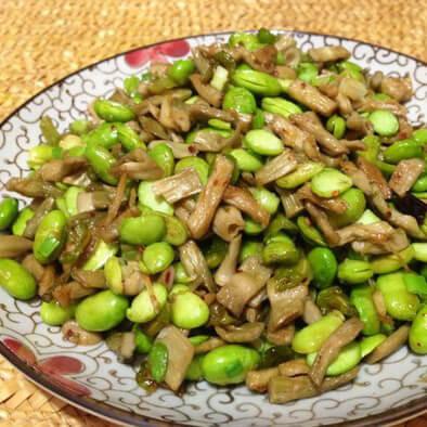 瓜姜炒毛豆