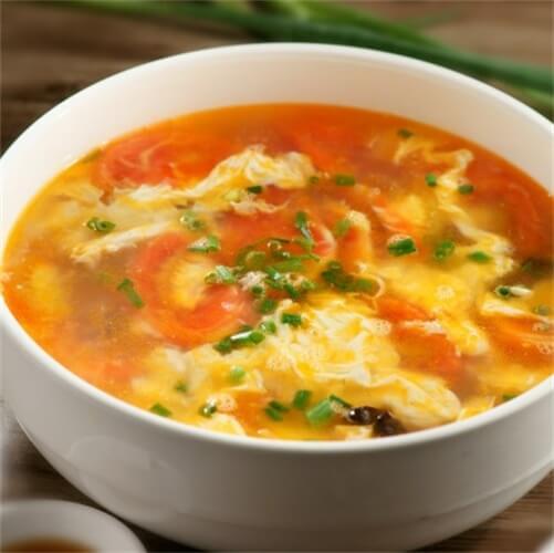 十分诱人的西红柿蛋汤