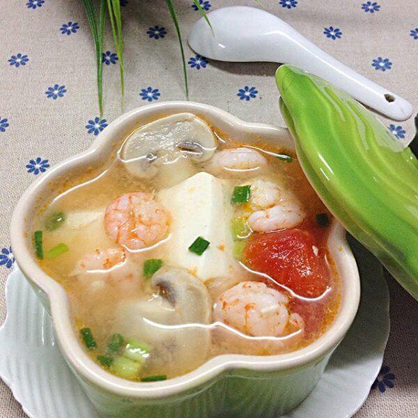 肉末豆腐虾仁