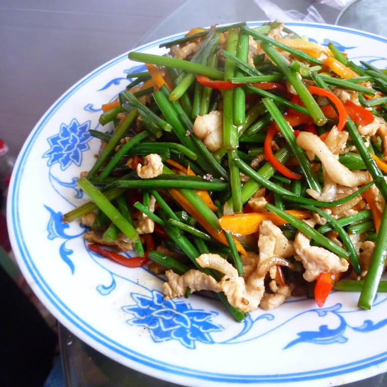 好吃的炒韭菜苔
