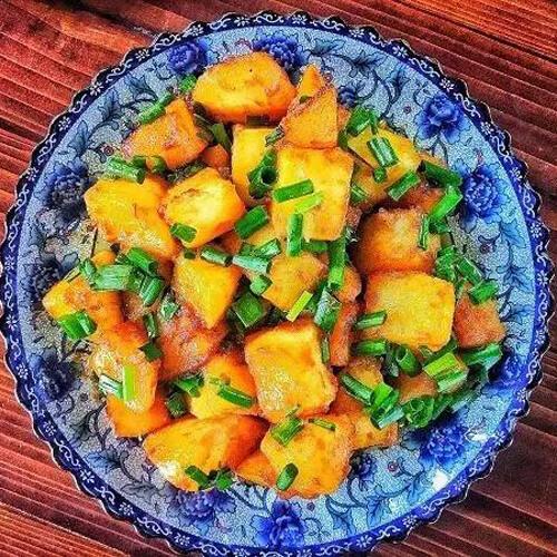 干煸土豆块的做法