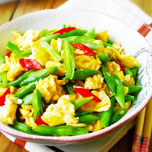 虾酱芸豆炒鸡蛋