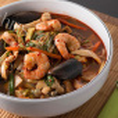 家常秋葵海鲜汤