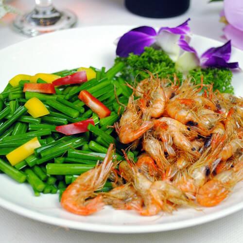 美味健康的韭菜炒虾仁