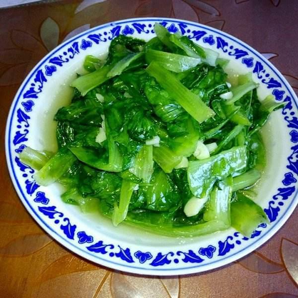 清淡的清炒生菜