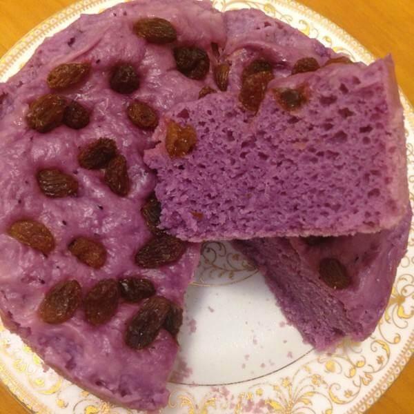 诱人的紫薯发糕