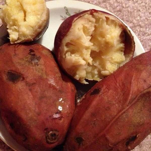 香醇的蒸红薯