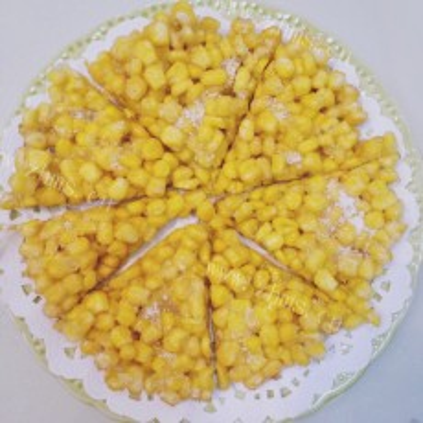 简单的黄金玉米烙