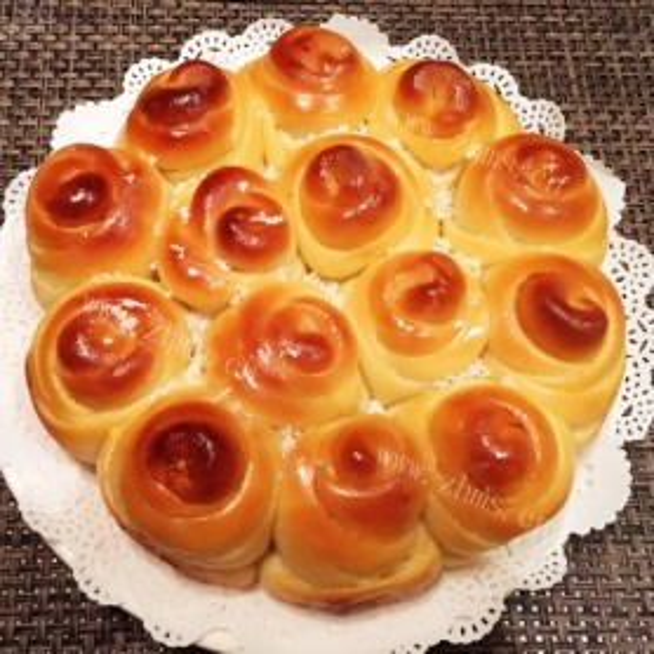 香飘的玫瑰花面包
