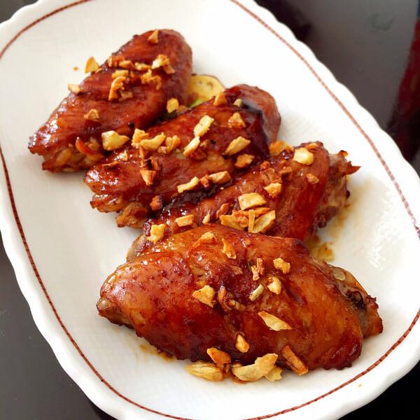鲜美可口的蒜香鸡翅