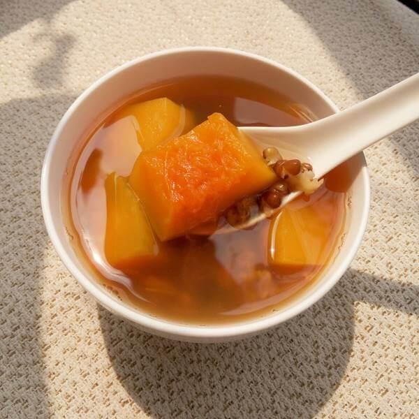 南瓜绿豆粥