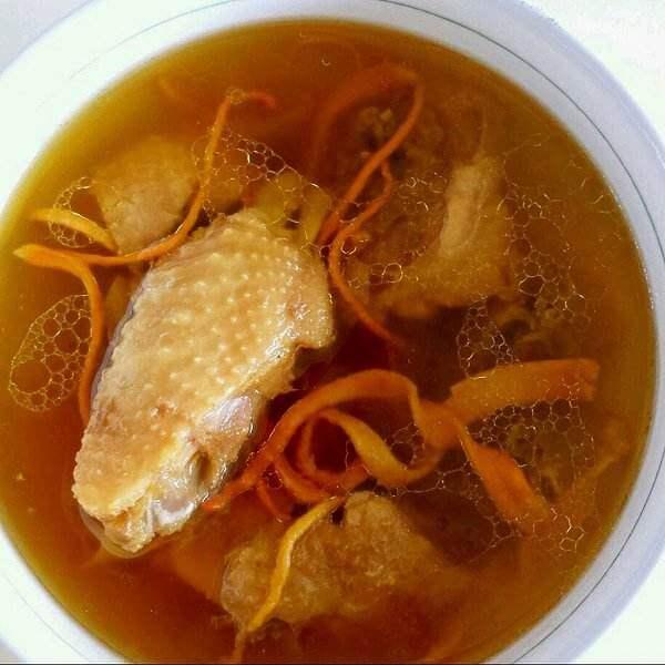 虫草花鸡汤