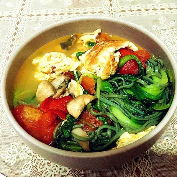鸡蛋青菜面