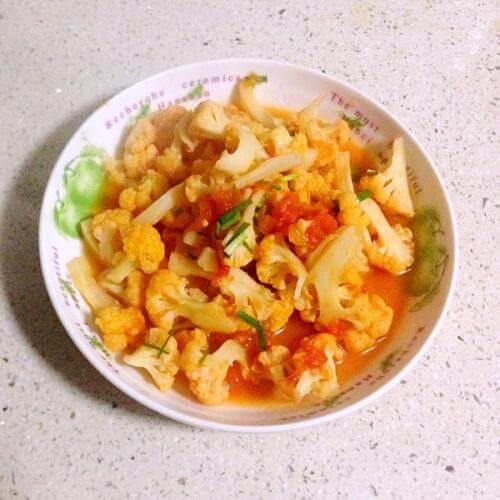 番茄花菜自制