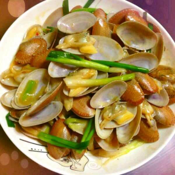 姜葱炒花甲