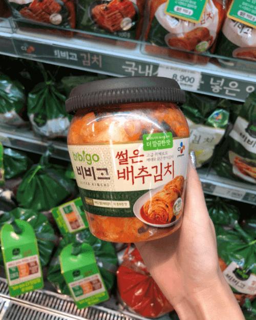 韩国辣白菜,在易买得超市发现的正宗必品阁泡菜
