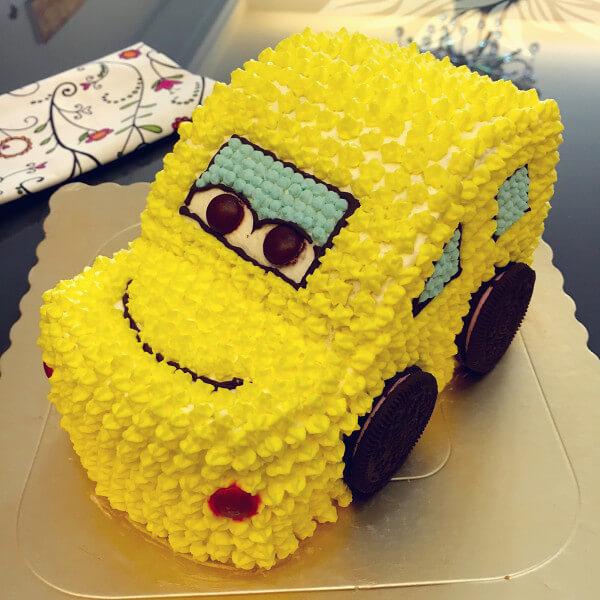 DIY小汽车蛋糕